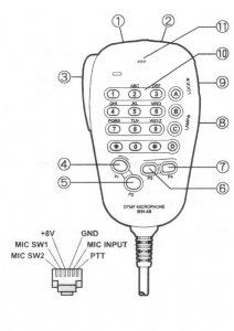 yaesu ft1500m mic wiring
