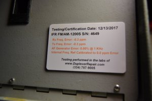 SOLD - IFR 1200S Service Monitor - Calibrated 12/13/17 | QRZ Forums