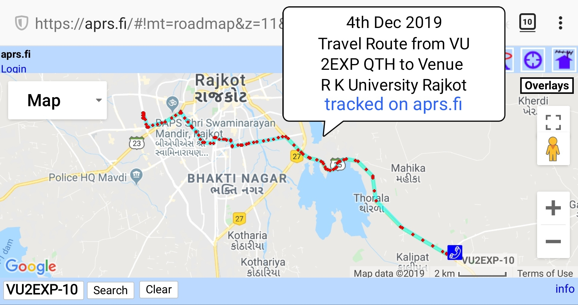 000 Vu2exp travel Route was tracked on aprs.jpg