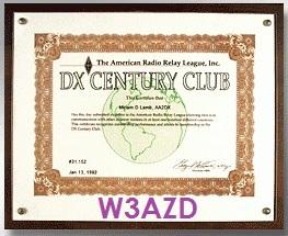 DXCC AWARD W3AZD.jpg