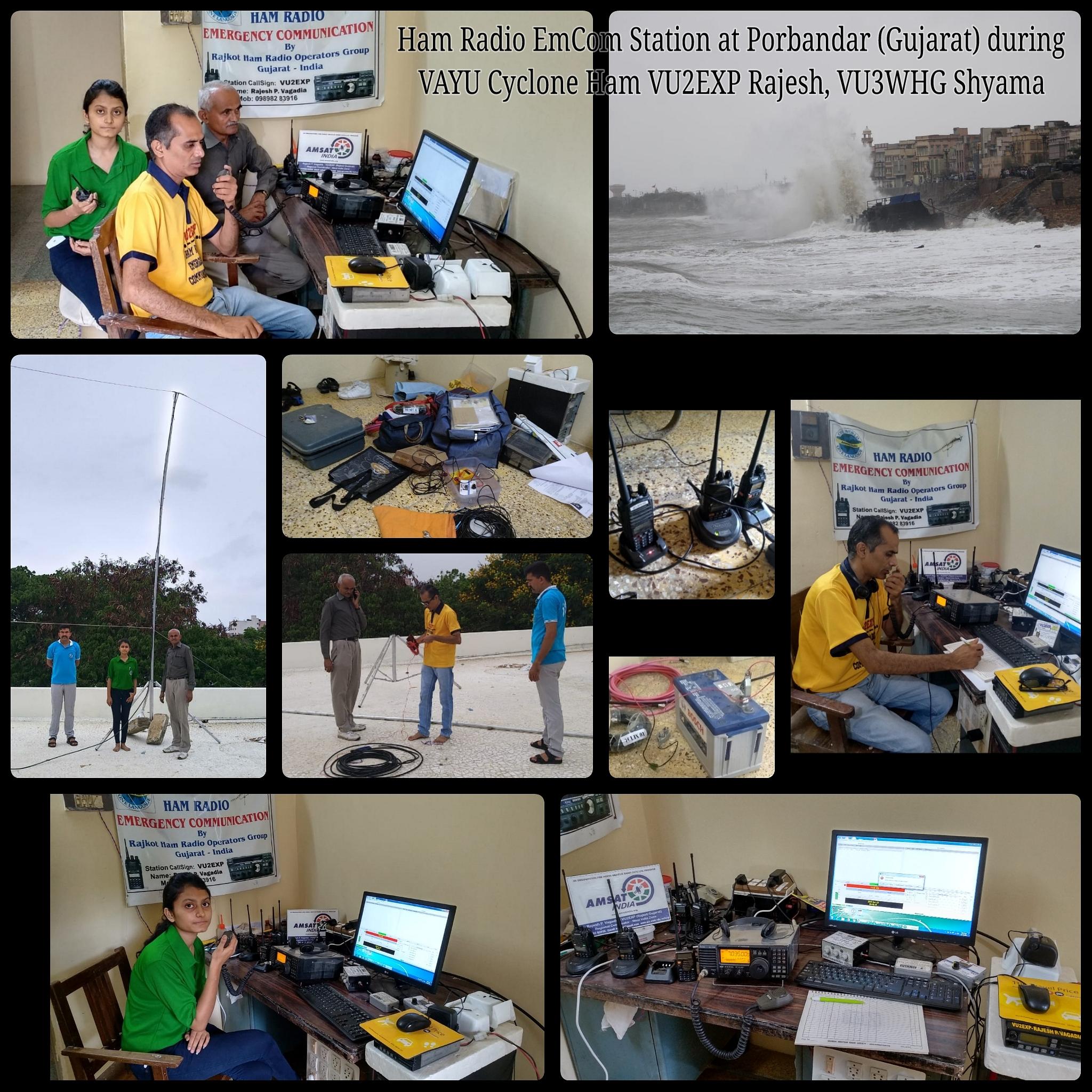 Ham Radio Communication Porbandar Gujarat Vayu Cyclone.jpg